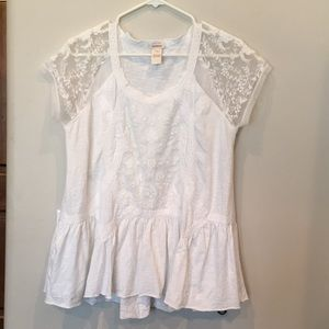 Sundance white ladies blouse cotton
